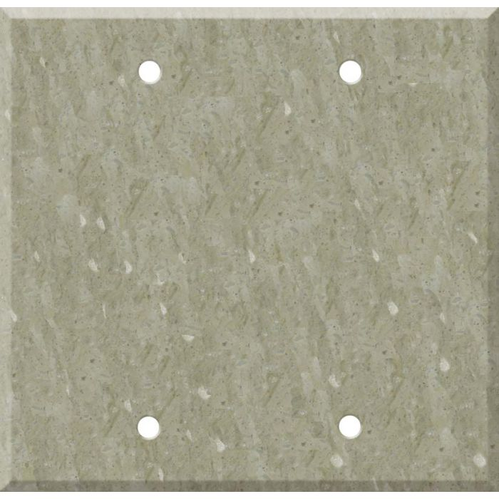 Corian Sagebrush Double Blank Wallplate Covers