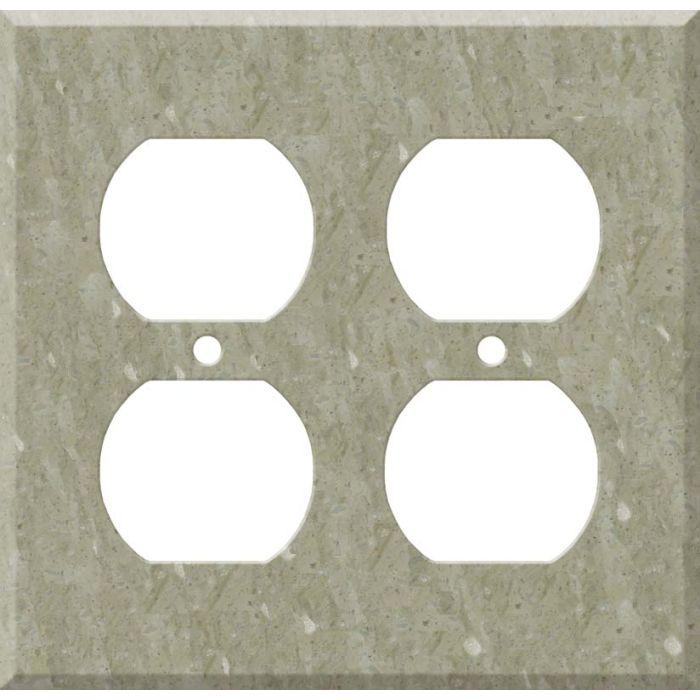 Corian Sagebrush 2 Gang Duplex Outlet Wall Plate Cover