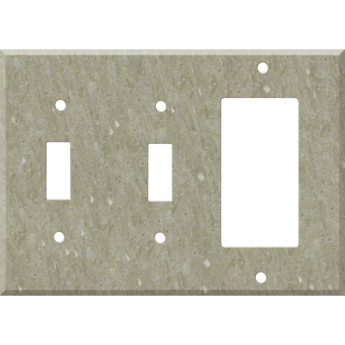 Corian Sagebrush Double 2 Toggle / 1 GFCI Rocker Combo Switchplates