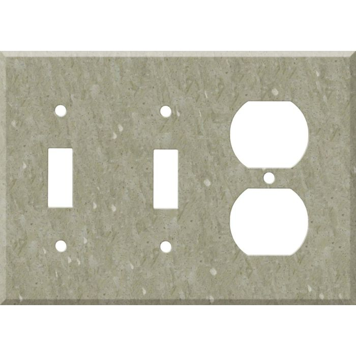 Corian Sagebrush Double 2 Toggle / Outlet Combination Wall Plates