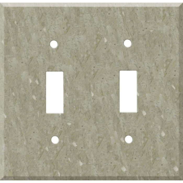 Corian Sagebrush Double 2 Toggle Switch Plate Covers