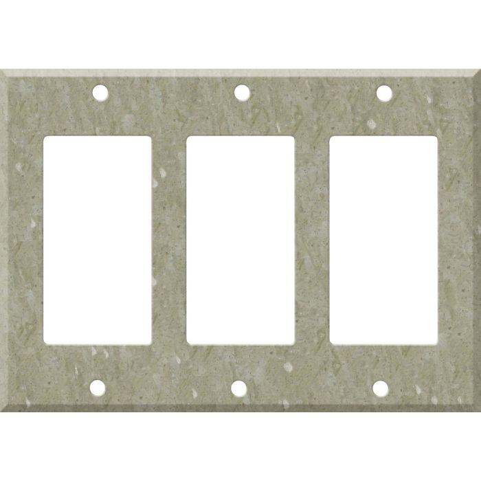 Corian Sagebrush Triple 3 Rocker GFCI Decora Light Switch Covers