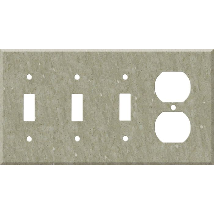 Corian Sagebrush Combination Triple 3 Toggle / Outlet Wall Plate Covers