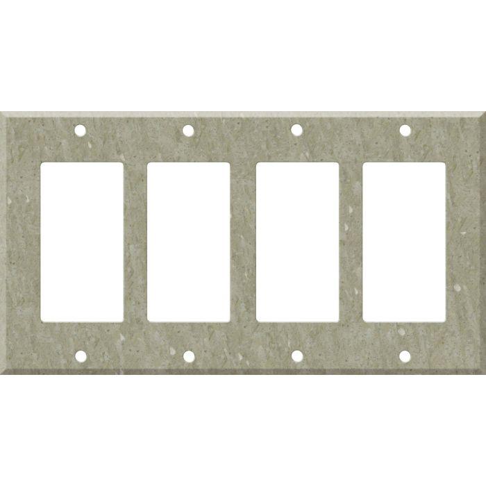 Corian Sagebrush 4 Rocker GFCI Decorator Switch Plates