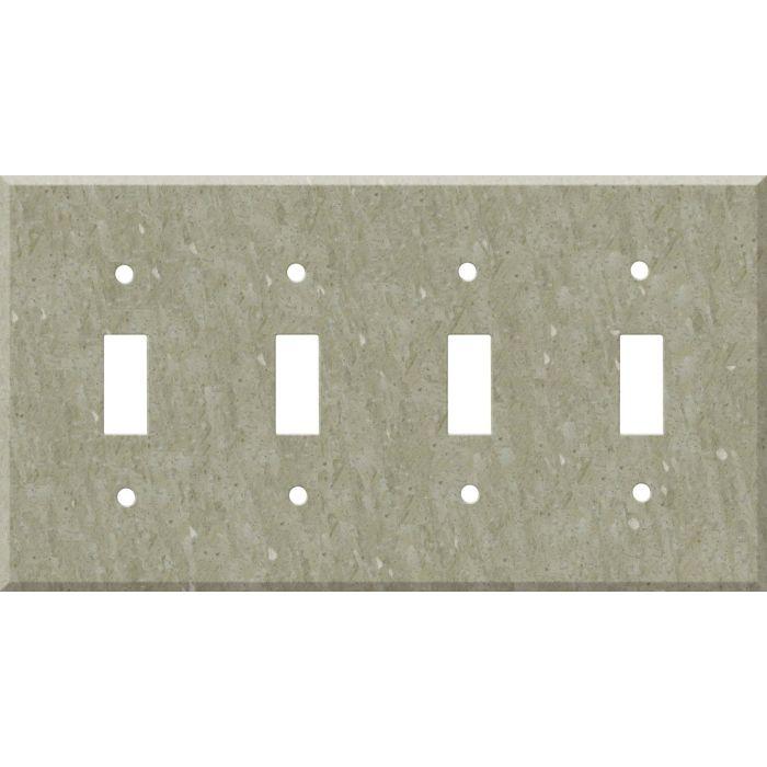 Corian Sagebrush Quad 4 Toggle Light Switch Covers
