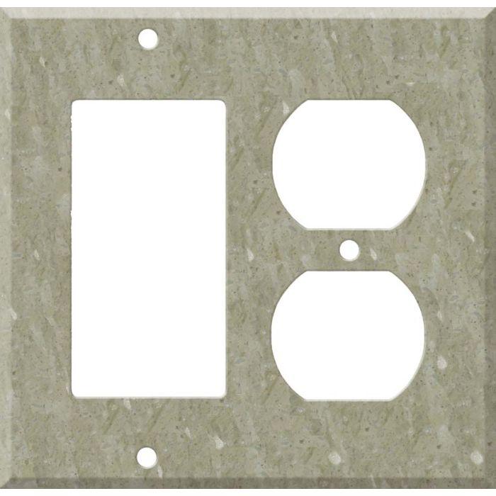 Corian Sagebrush Combination GFCI Rocker / Duplex Outlet Wall Plates