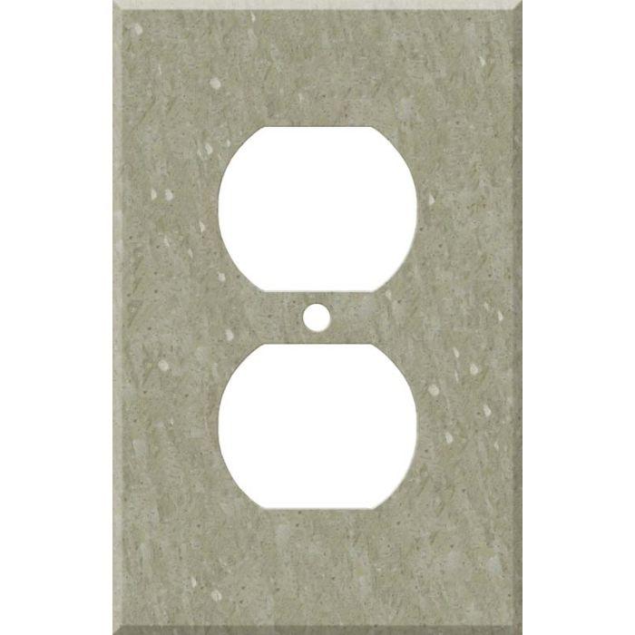 Corian Sagebrush 1 Gang Duplex Outlet Cover Wall Plate