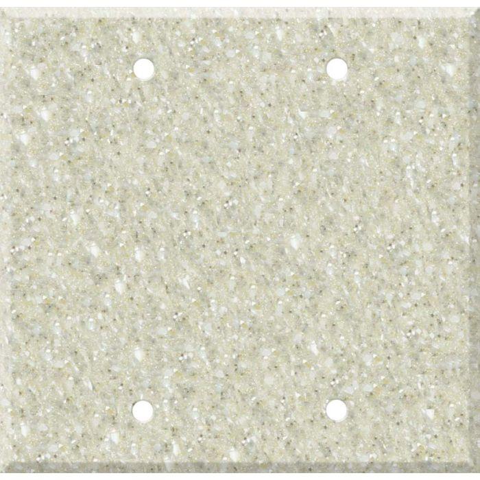 Corian Sahara Double Blank Wallplate Covers
