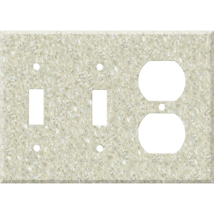 Corian Sahara Double 2 Toggle / Outlet Combination Wall Plates
