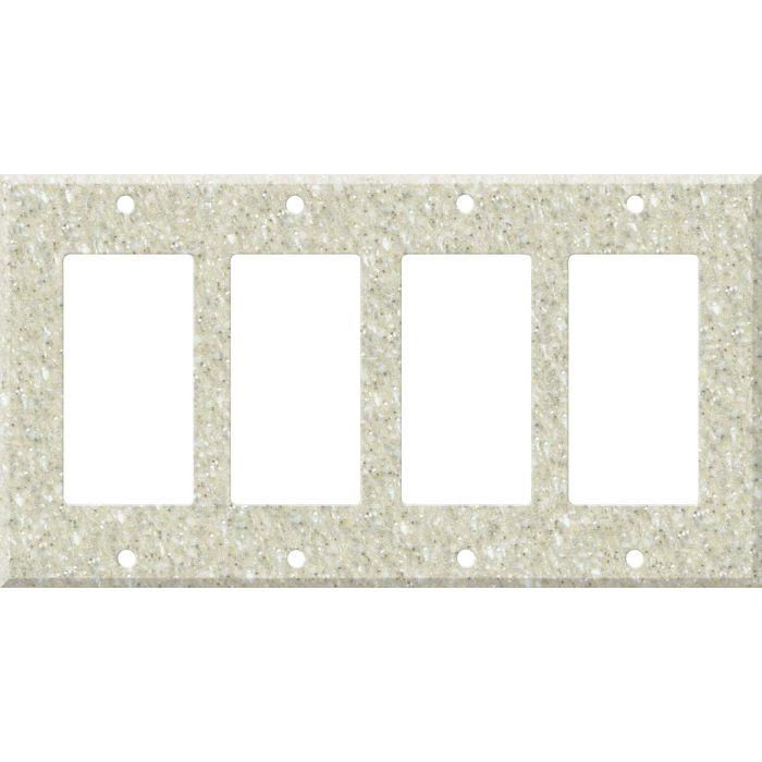 Corian Sahara 4 Rocker GFCI Decorator Switch Plates
