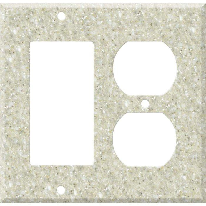 Corian Sahara Combination GFCI Rocker / Duplex Outlet Wall Plates