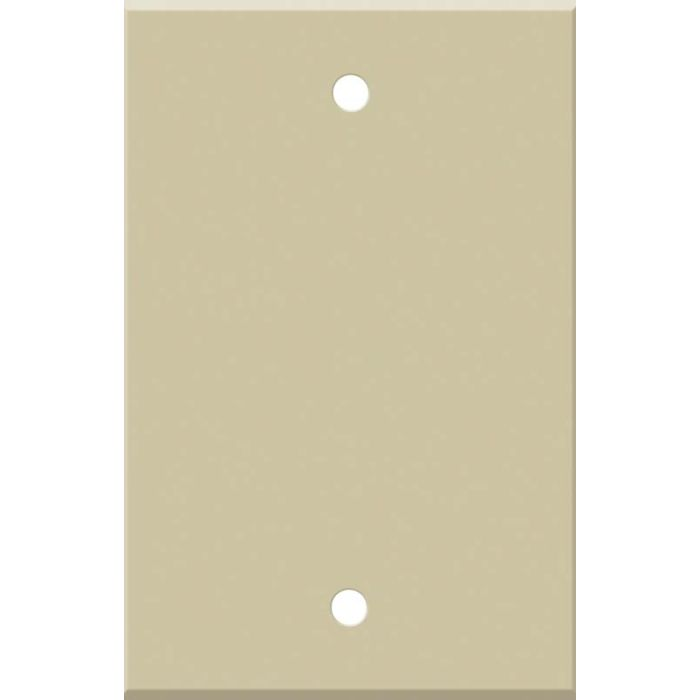 Corian Sand 1 Gang Blank Wall Plates