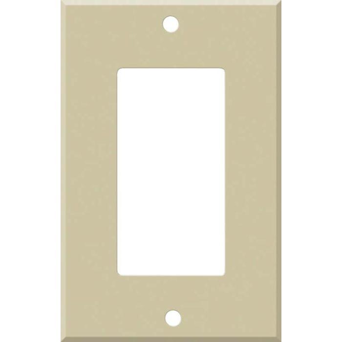 Corian Sand 1-Gang GFCI Decorator Rocker Switch Plate Cover