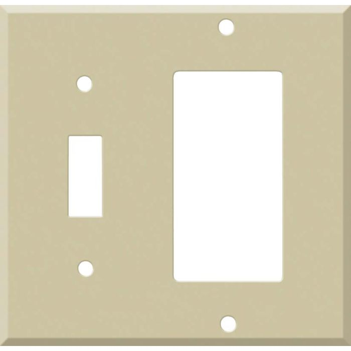 Corian Sand 1 Toggle Wall Switch Plate - GFI Rocker Cover Combo