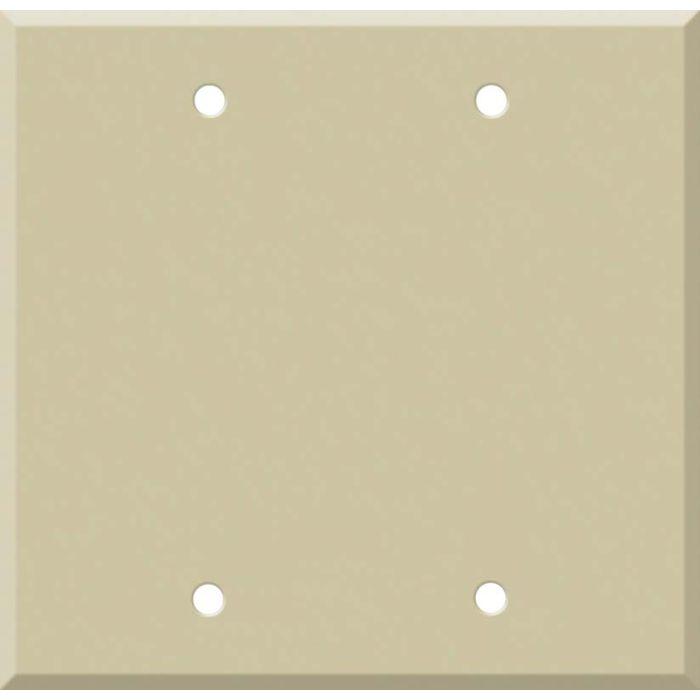 Corian Sand 2 Double Blank Wall Plates