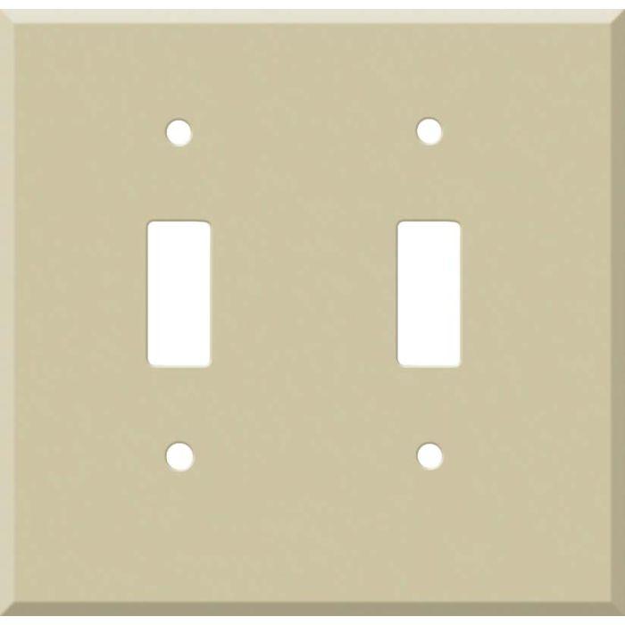 Corian Sand 2 Toggle Switch Plates