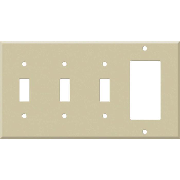 Corian Sand 3-Toggle / 1-Decorator / Rocker - Combination Wall Plates
