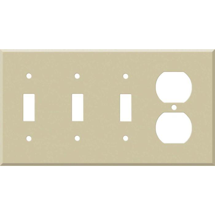 Corian Sand 3-Toggle / 1-Duplex - Combination Wall Plates