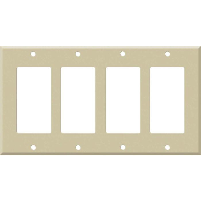 Corian Sand 4 Rocker GFCI Decorator Switch Plates