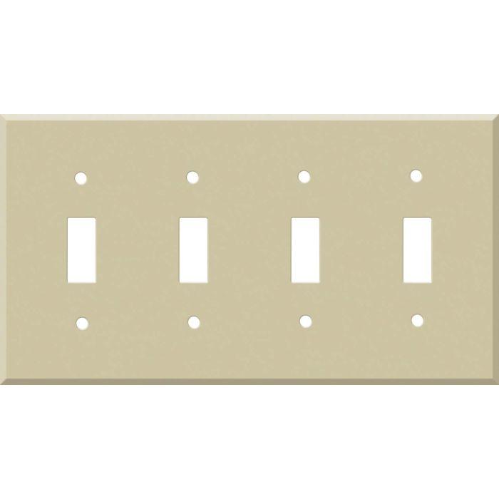Corian Sand Quad 4 Toggle Light Switch Covers