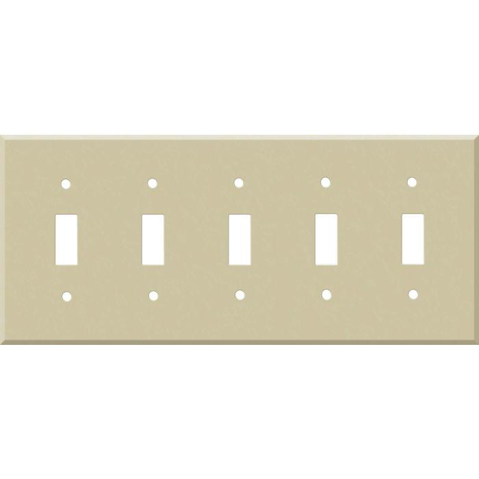 Corian Sand 5 Toggle Wall Switch Plates