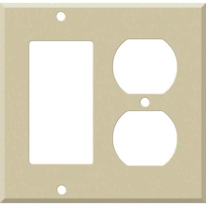 Corian Sand Decora GFCI Rocker / Duplex Outlet Combination Wall Plate