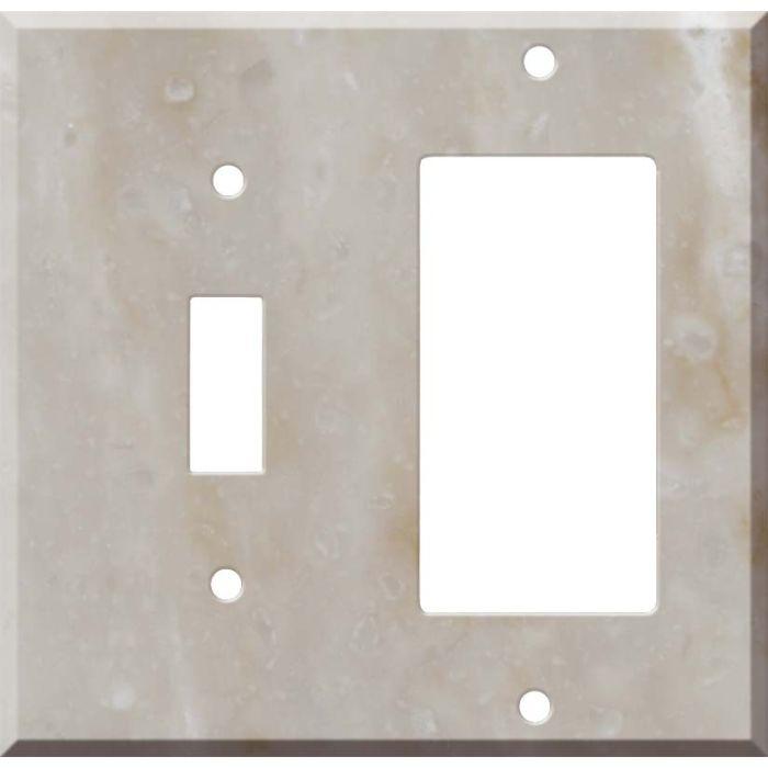 Corian Sandalwood Combination 1 Toggle / Rocker GFCI Switch Covers