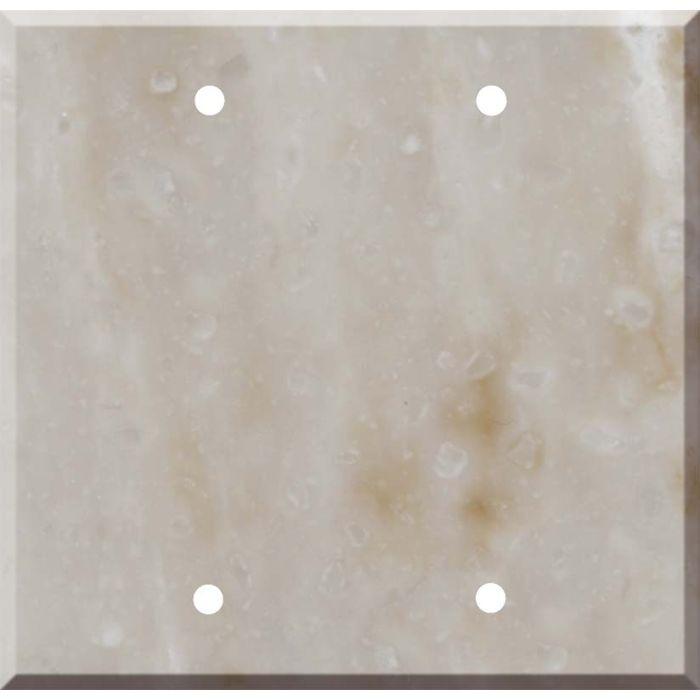 Corian Sandalwood Double Blank Wallplate Covers