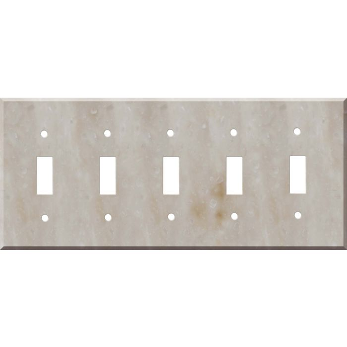 Corian Sandalwood 5 Toggle Wall Switch Plates