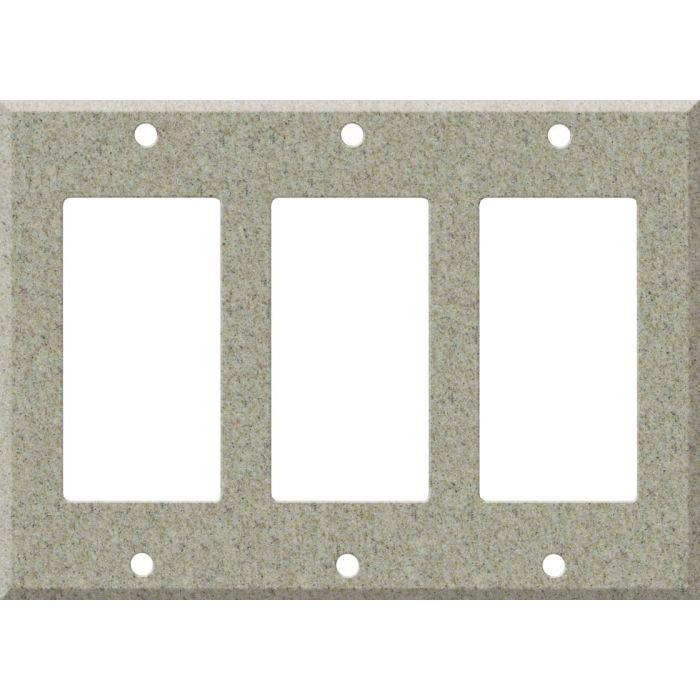 Corian Sandstone Triple 3 Rocker GFCI Decora Light Switch Covers