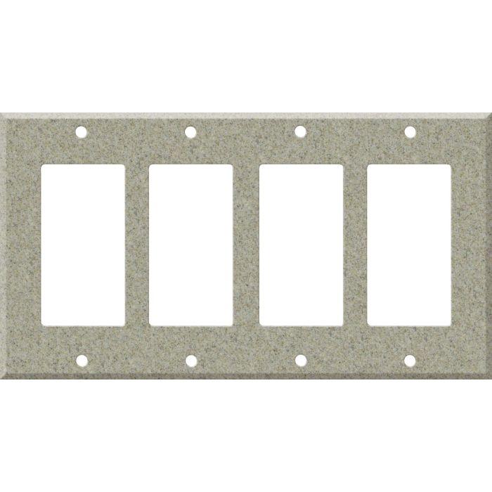 Corian Sandstone 4 Rocker GFCI Decorator Switch Plates