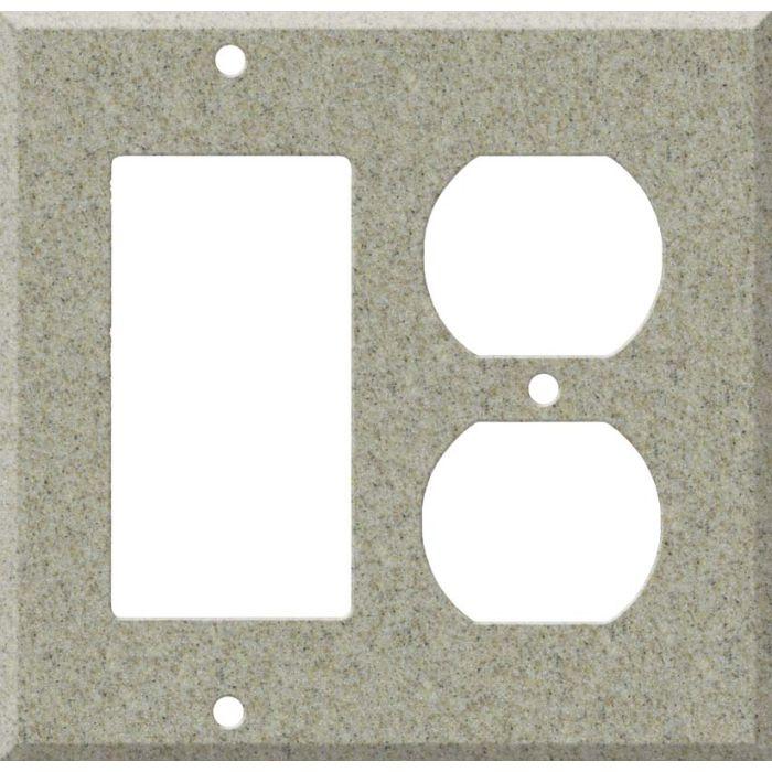 Corian Sandstone Combination GFCI Rocker / Duplex Outlet Wall Plates