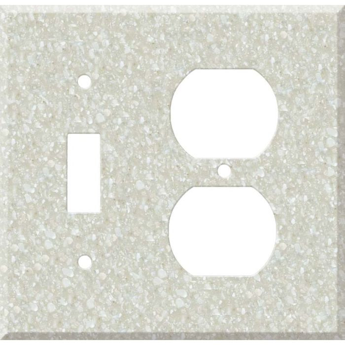 Corian Savannah Combination 1 Toggle / Outlet Cover Plates