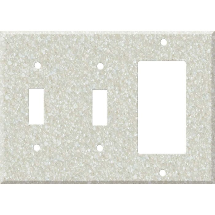 Corian Savannah Double 2 Toggle / 1 GFCI Rocker Combo Switchplates