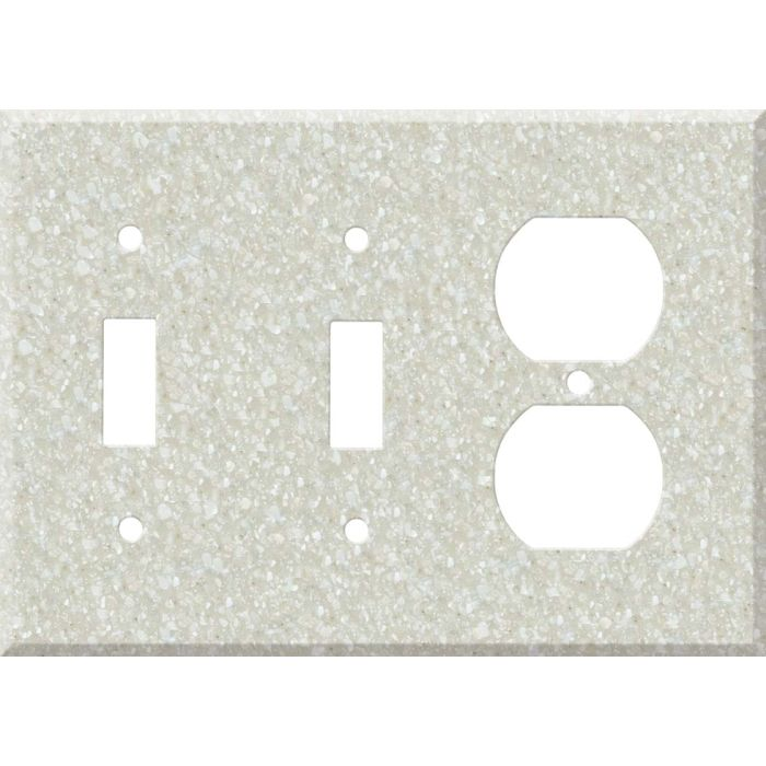 Corian Savannah Double 2 Toggle / Outlet Combination Wall Plates