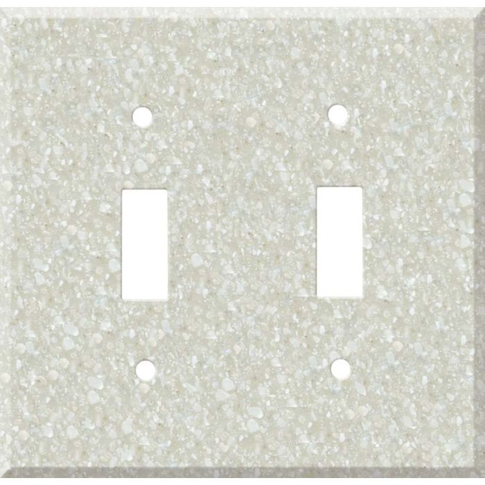 Corian Savannah Double 2 Toggle Switch Plate Covers