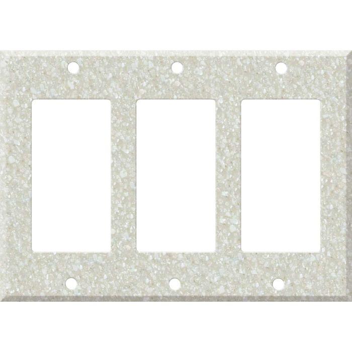 Corian Savannah Triple 3 Rocker GFCI Decora Light Switch Covers