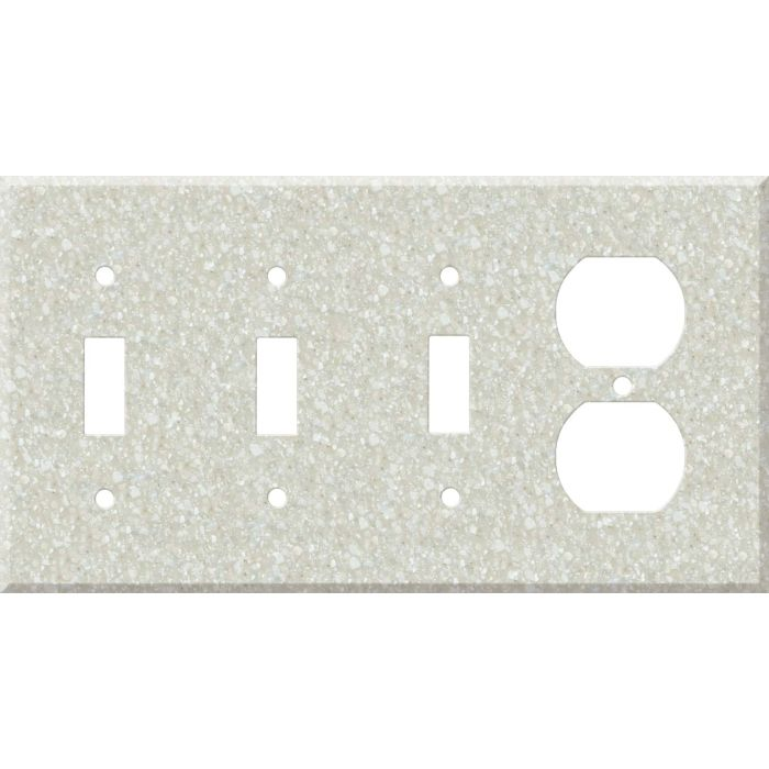 Corian Savannah Combination Triple 3 Toggle / Outlet Wall Plate Covers