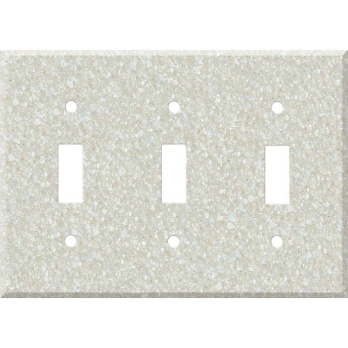 Corian Savannah Triple 3 Toggle Light Switch Covers