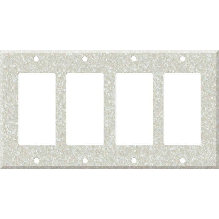 Corian Savannah 4 Rocker GFCI Decorator Switch Plates