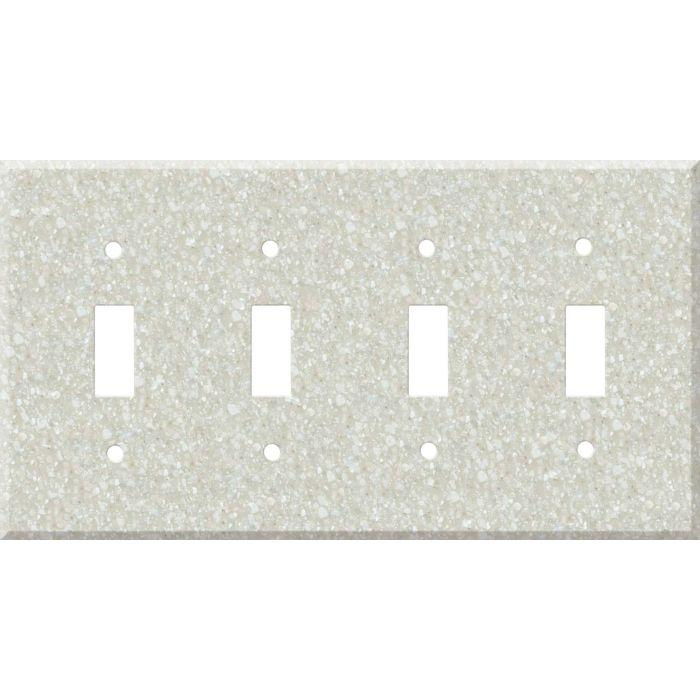 Corian Savannah Quad 4 Toggle Light Switch Covers