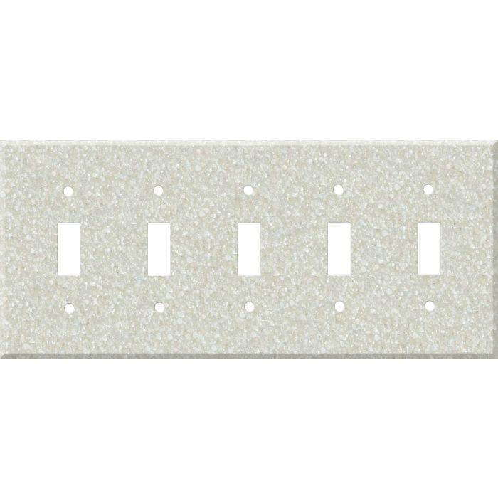 Corian Savannah 5 Toggle Wall Switch Plates