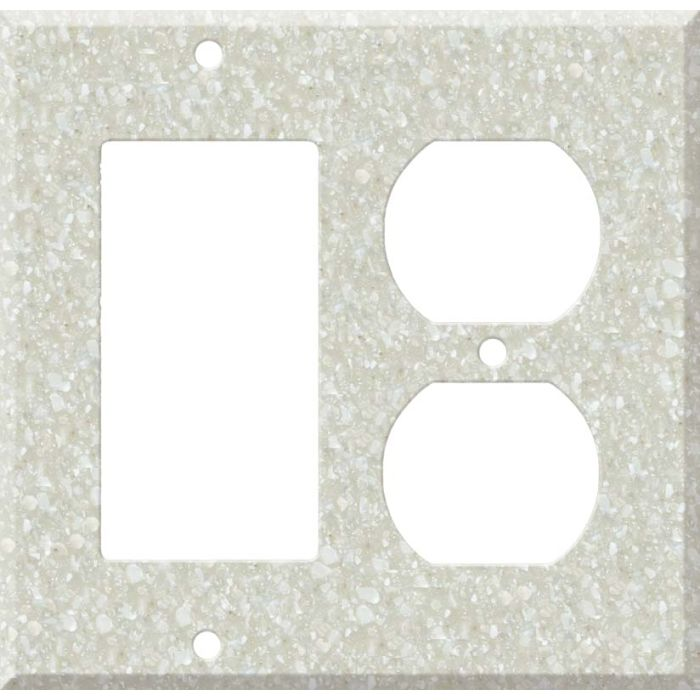Corian Savannah Combination GFCI Rocker / Duplex Outlet Wall Plates