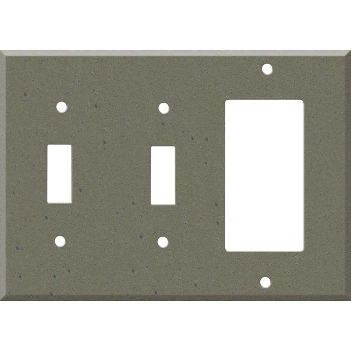 Corian Serene Sage Double 2 Toggle / 1 GFCI Rocker Combo Switchplates