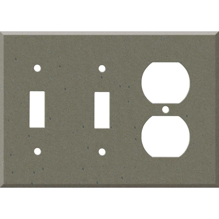 Corian Serene Sage Double 2 Toggle / Outlet Combination Wall Plates