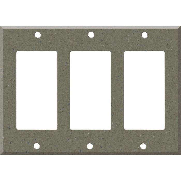 Corian Serene Sage Triple 3 Rocker GFCI Decora Light Switch Covers