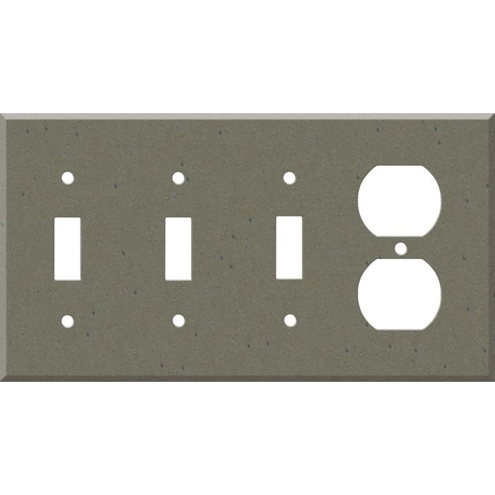 Corian Serene Sage Combination Triple 3 Toggle / Outlet Wall Plate Covers