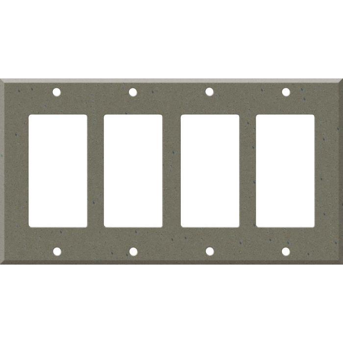 Corian Serene Sage 4 Rocker GFCI Decorator Switch Plates