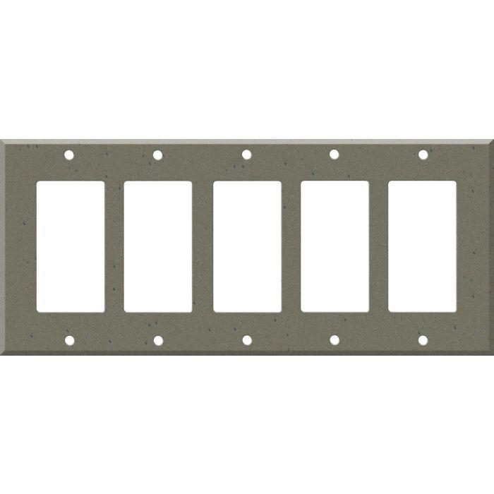 Corian Serene Sage 5 GFCI Rocker Decora Switch Covers
