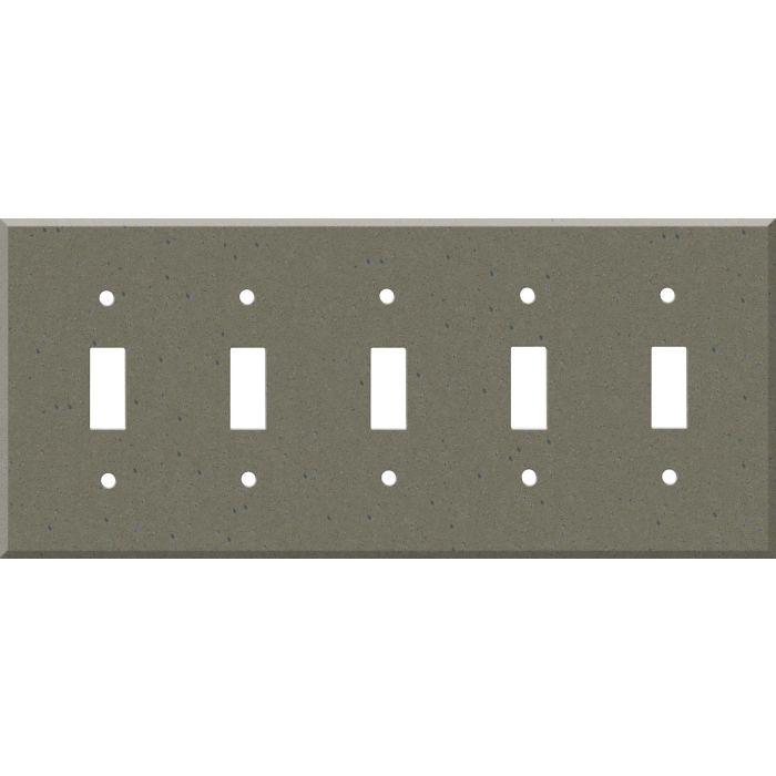 Corian Serene Sage 5 Toggle Wall Switch Plates